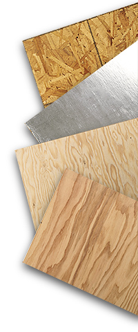 Oriented Strand Board (OSB), Radiant Barrier OSB and plywood